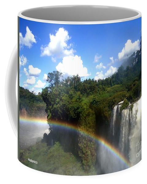 Falls Coffee Mug featuring the painting Rainbow by Helena Wierzbicki