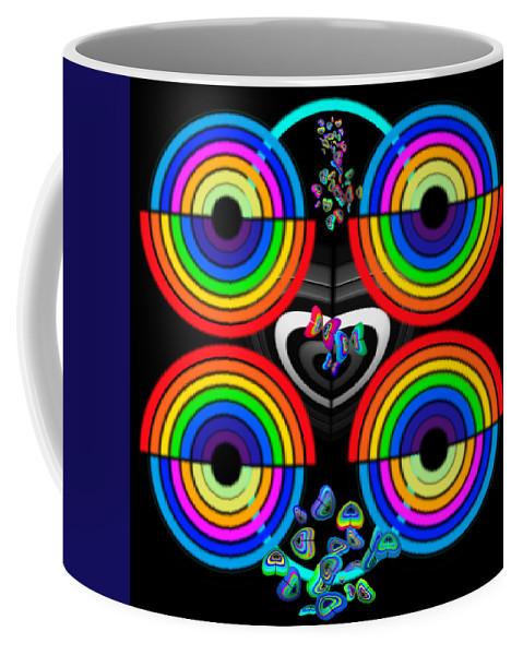 Rainbow Art Coffee Mug featuring the painting Rainbows End by Charles Stuart