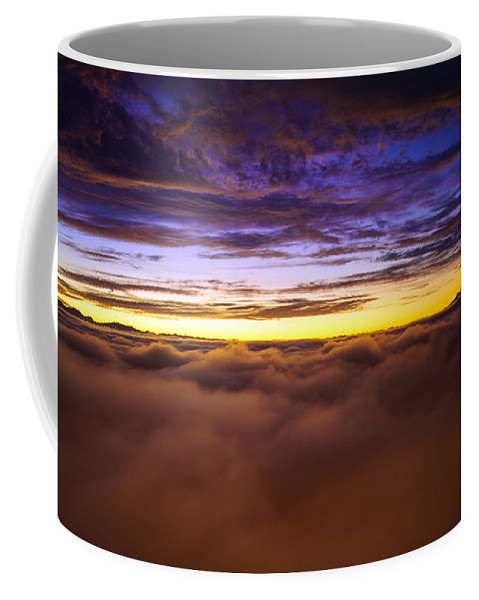 Rainier Coffee Mug featuring the photograph Rainier Above The Clouds by Mike Reid