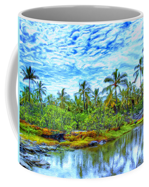 Rain Coffee Mug featuring the painting Rainy Afternoon In Kona by Dominic Piperata