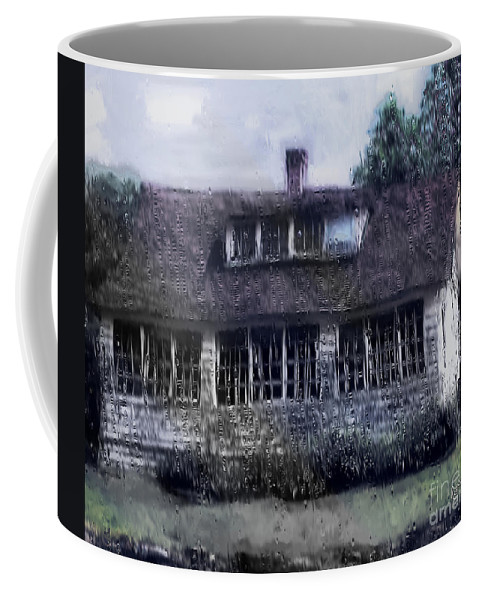 House Coffee Mug featuring the painting Rainy Day Long Ago House by RC deWinter