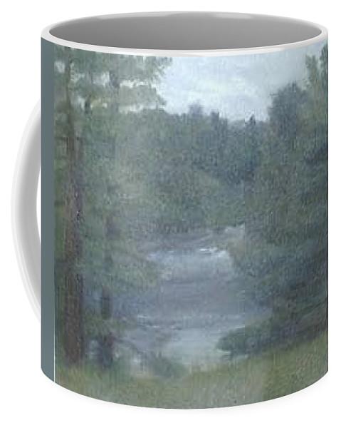 Rainy Coffee Mug featuring the painting Rainy Day Plein Aire by Sheila Mashaw