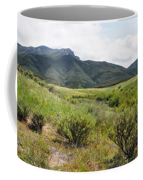 Santa Monica Mountains Coffee Mug featuring the photograph Rancho Sierra Vista Satwiwa Mountains II by Kyle Hanson