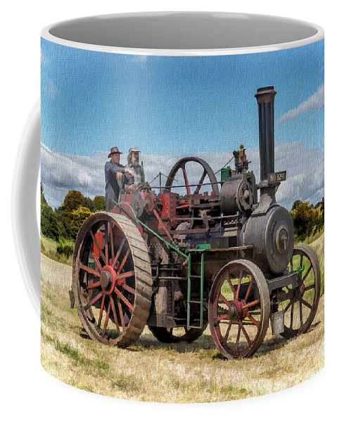 Steam Coffee Mug featuring the photograph Ransomes Steam Engine by Paul Gulliver