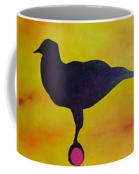Raven Coffee Mug featuring the painting Raven by Lord Frederick Lyle Morris