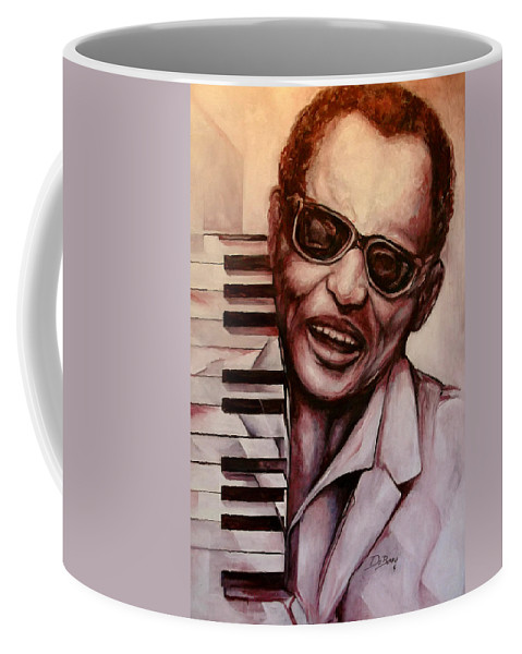 Original Fine Art By Lloyd Deberry Coffee Mug featuring the painting Ray The Print by Lloyd DeBerry
