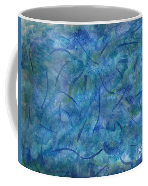 Abstract Painting Coffee Mug featuring the painting Raymonds Present by Myrtle Joy