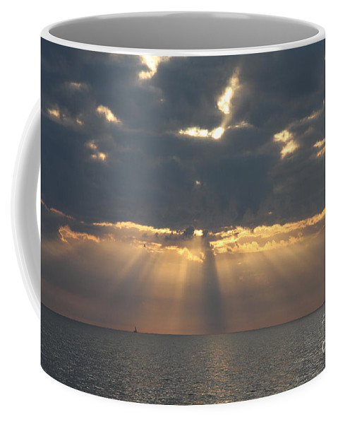 Sunset Coffee Mug featuring the photograph Rays Of The Sunlight by Christiane Schulze Art And Photography