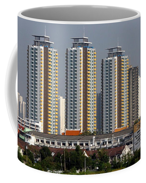 Bangkok Coffee Mug featuring the photograph Reaching For The Sky by Laurel Talabere