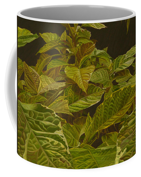 Plant Coffee Mug featuring the painting Ready For Spring by Thu Nguyen
