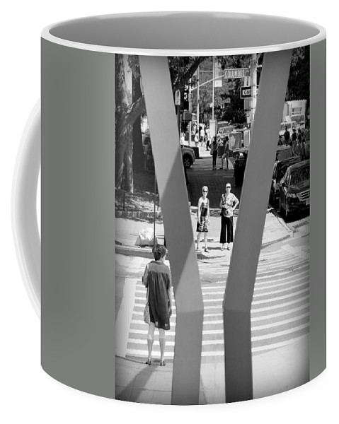 Ready Coffee Mug featuring the photograph Ready To Cross by Valentino Visentini