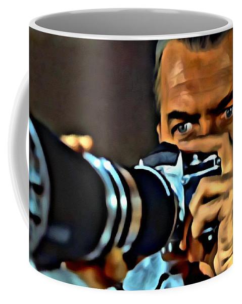 Rear Window Coffee Mug featuring the painting Rear Window by Florian Rodarte