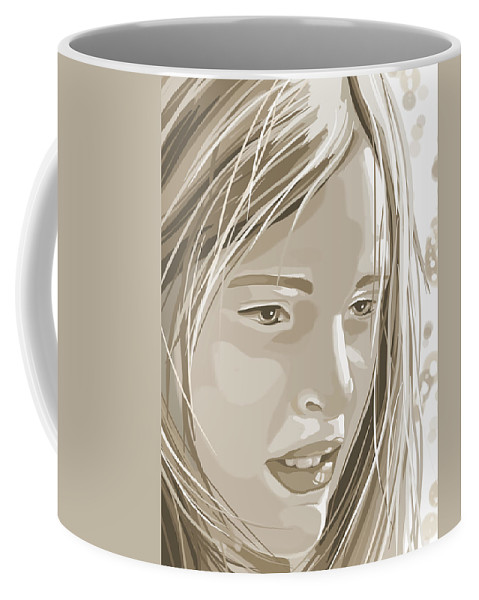 Digital Coffee Mug featuring the painting Rebecca by Veronica Minozzi