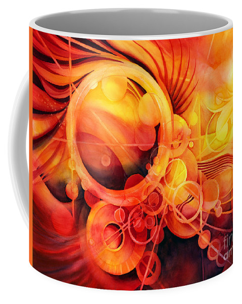 Watercolor Coffee Mug featuring the painting Rebirth - Phoenix by Hailey E Herrera