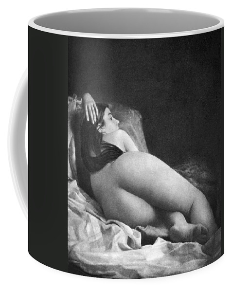1850 Coffee Mug featuring the photograph Reclining Nude, C1850 by Granger
