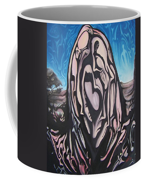 Tmad Coffee Mug featuring the painting Recluse by Michael TMAD Finney