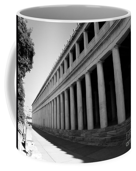 Reconstructed Coffee Mug featuring the photograph Reconstructed Stoa Of Attalos 2 by M Brandl