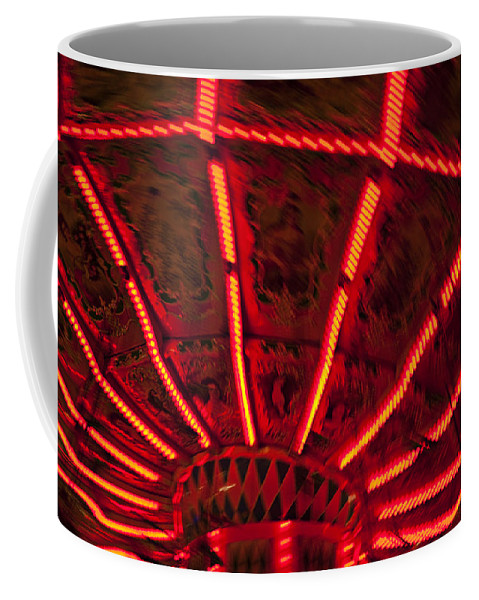 Carnival Coffee Mug featuring the photograph Red Abstract Carnival Lights by Garry Gay