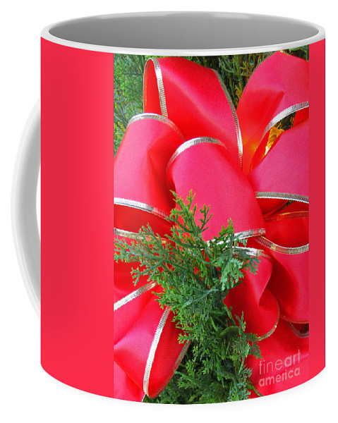 Christmas Coffee Mug featuring the photograph Red And Greens by Ann Horn