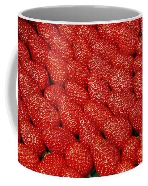 Strawberries Coffee Mug featuring the photograph Red And Ripe by Allen Beatty