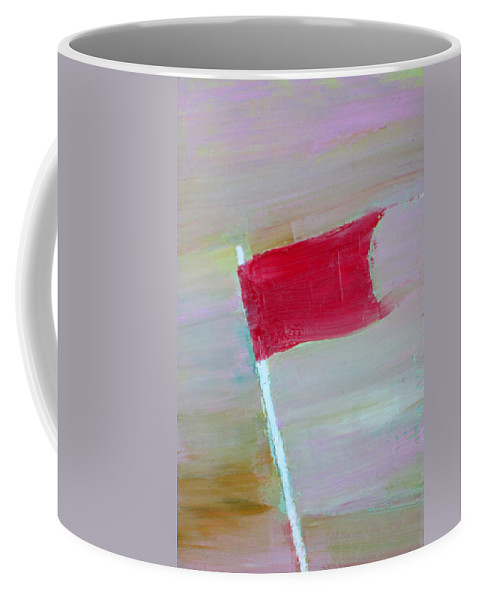 Flag Coffee Mug featuring the painting Red Banner by Fabrizio Cassetta