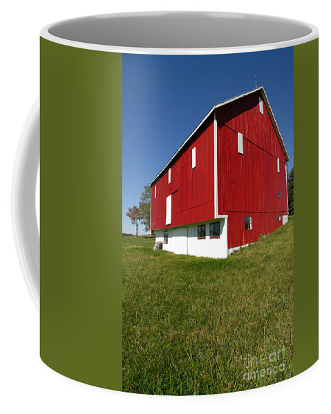 Barn Coffee Mug featuring the photograph Red Barn by Amy Cicconi
