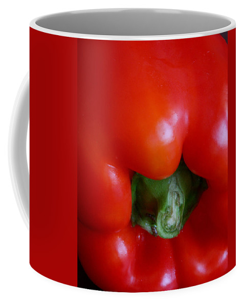 Pepper Coffee Mug featuring the photograph Red Bell Pepper by Joe Kozlowski