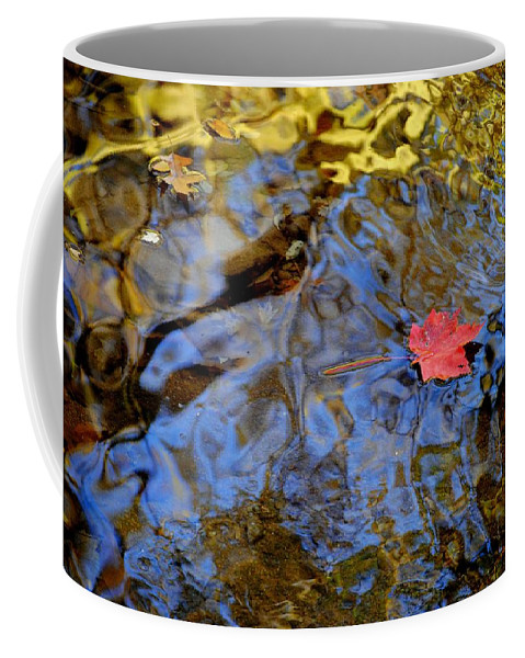 Red Coffee Mug featuring the photograph Red Blue And Gold by Frozen in Time Fine Art Photography