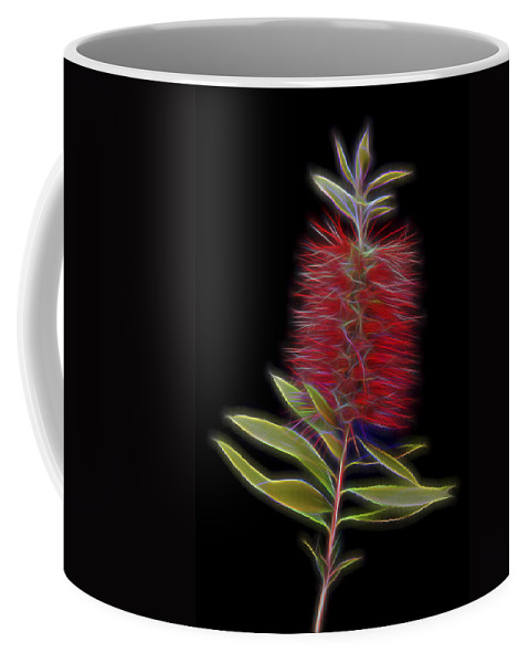Callistemon Coffee Mug featuring the photograph Red Brush Glow by Kelley King