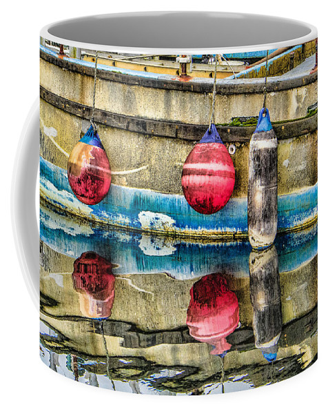 Steven Bateson Coffee Mug featuring the photograph Red Buoy Reflections Of Alaska by Steven Bateson