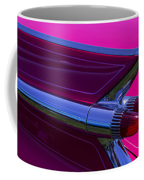 Red 1959 Cadillac Coffee Mug featuring the photograph Red Caddy Tail Lights by Garry Gay