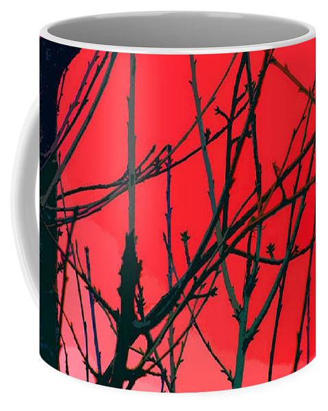 Red Coffee Mug featuring the digital art Red by Carol Lynch