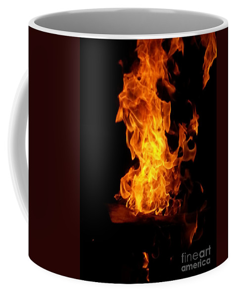 Fire Coffee Mug featuring the photograph Red Dragon by Helena Sway