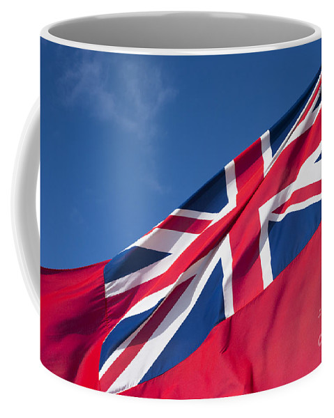 Red Endsign Coffee Mug featuring the photograph Red Ensign by Anne Gilbert