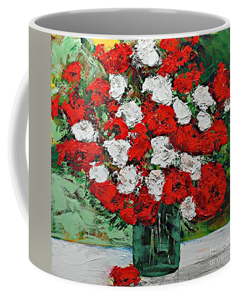 Landscape Coffee Mug featuring the painting Red Explosion by Allan P Friedlander