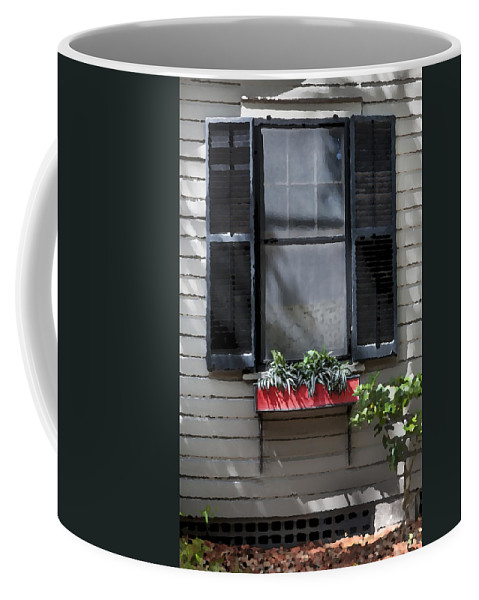 St. Augustine Coffee Mug featuring the photograph Red Flower Box St Augustine by Rich Franco