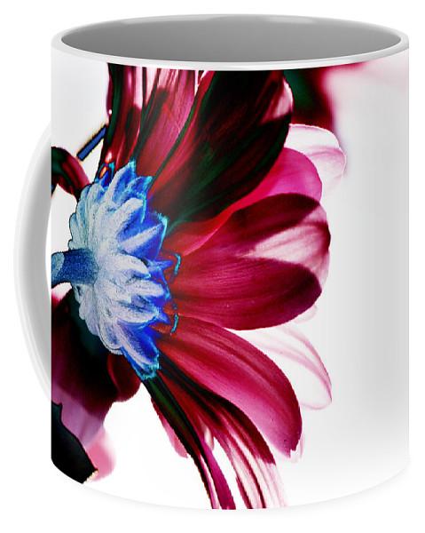Red Coffee Mug featuring the digital art Red Flower by Carol Lynch