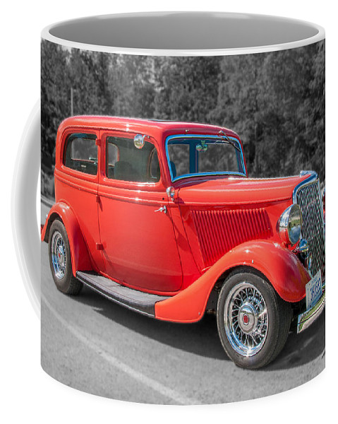 Antique Ford Coffee Mug featuring the photograph Red Ford 3d21740 by Guy Whiteley
