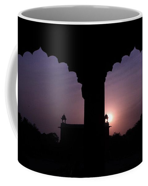 India Coffee Mug featuring the photograph Red Fort Arches - New Delhi - India by Aidan Moran