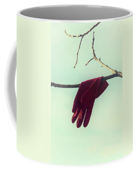 Glove Coffee Mug featuring the photograph Red Glove by Joana Kruse
