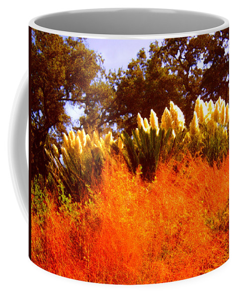 Landscapes Coffee Mug featuring the painting Red Grass by Amy Vangsgard