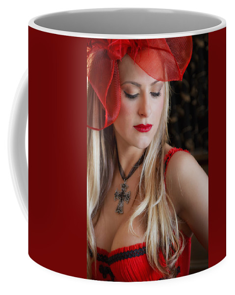 Model Coffee Mug featuring the photograph Red Hot by Evelina Kremsdorf