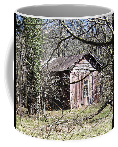 Red Coffee Mug featuring the photograph Red House by Nick Kirby