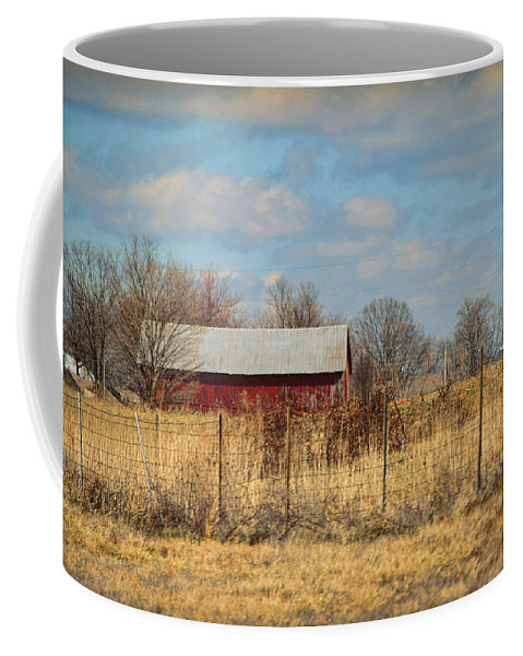 Wright Coffee Mug featuring the photograph Red Kentucky Relic by Paulette B Wright