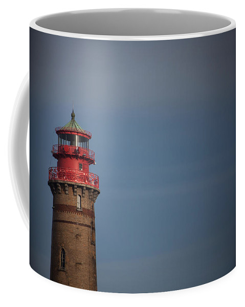 Island Of Ruegen Coffee Mug featuring the photograph Red Lighthouse by Ralf Kaiser