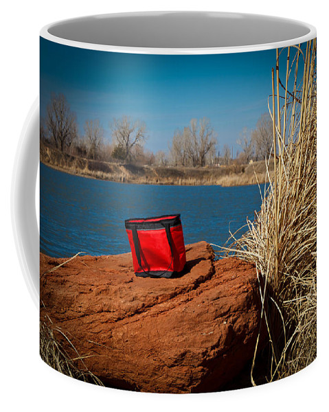 Horizontal Coffee Mug featuring the photograph Red Lunch Bag by Doug Long