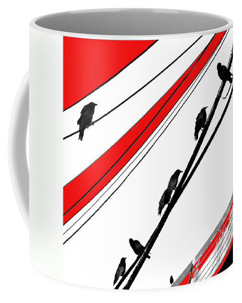 Crows Coffee Mug featuring the photograph Red Night by The Artist Project
