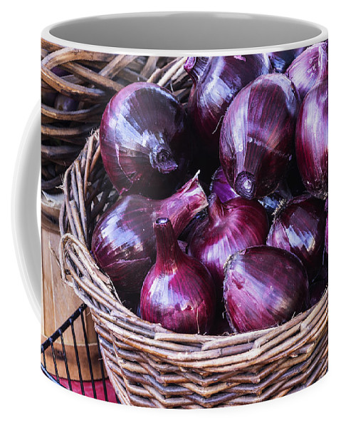 Red Onion Coffee Mug featuring the photograph Red Onion by Vishwanath Bhat