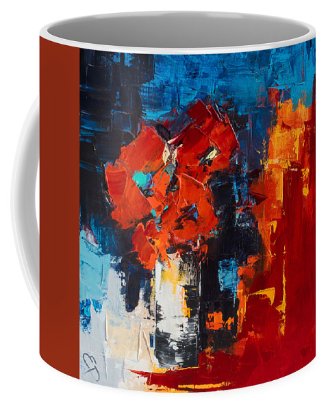 Flowers Coffee Mug featuring the painting Red Passion by Elise Palmigiani