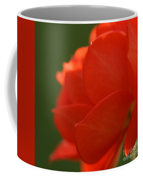 Red Coffee Mug featuring the photograph Red Petals by Carol Lynch